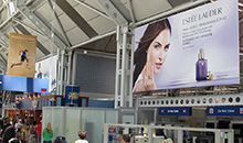 Banner Display ads in an airport.