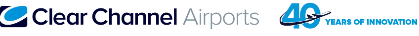 Clear Channel Airports - 40 years of innovation logo